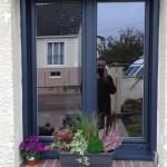 Fenêtres PVC bleue