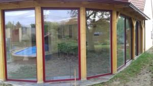 3 panneaux fixes tendance bois