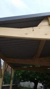 détail de l'assemblage bois