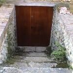 Porte 2 vantaux chêne massif avec serrure