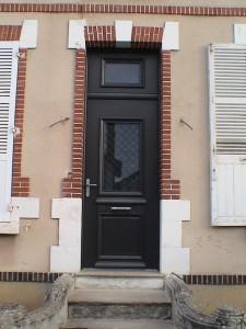 Porte B'lem alu isolante vitrage 44-2 poignée bâton de maréchal